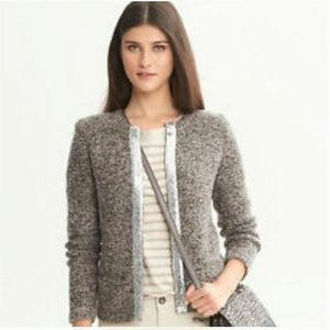 NWT Banana Republic Sequin Trim Sweater Cardigan M